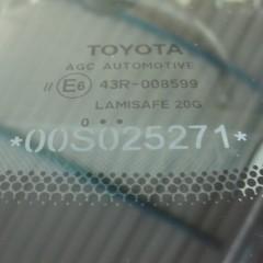 Противоугонная маркировка стекол Toyota Camry